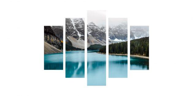 Модульная картина «Холодная красота»