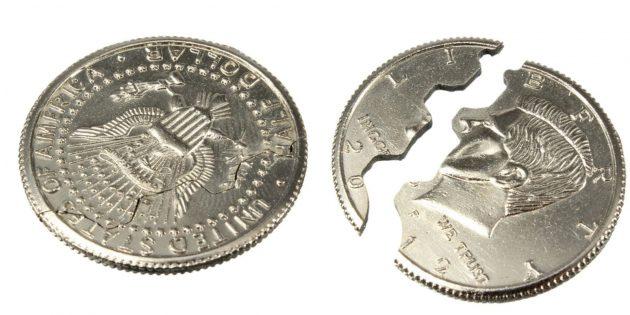 Надкушенная монета