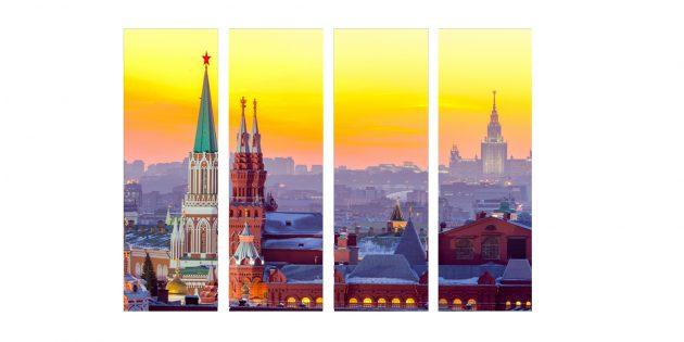 Модульная картина «Вечерняя Москва»