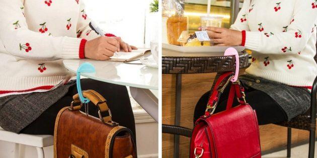 органайзеры для рабочего места: крючок для сумок и рюкзаков