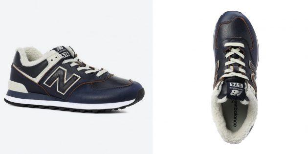 Утеплённые кроссовки New Balance 574