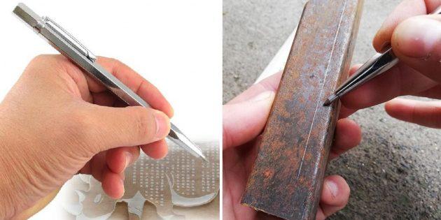 слесарные инструменты: чертилка