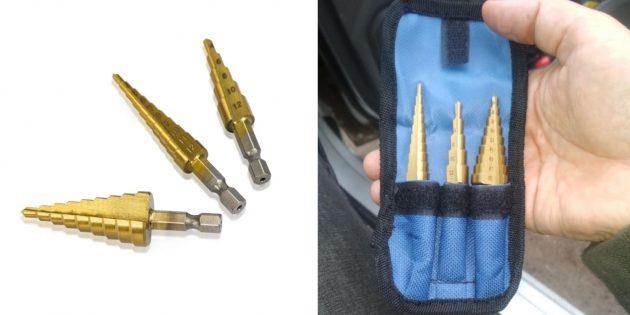слесарные инструменты: ступенчатые свёрла