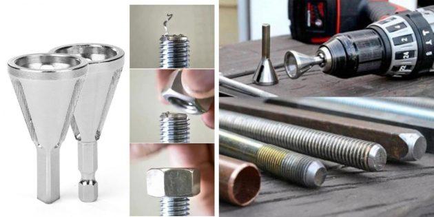 слесарные инструменты: инструмент для снятия заусенцев
