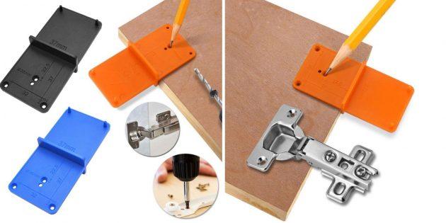 Товары для сборки мебели: Шаблон для разметки петель
