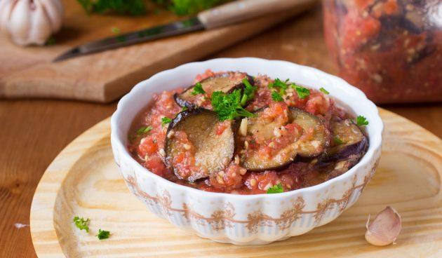 Баклажаны на зиму в томатной заливке