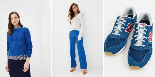 Модные цвета зимы-2020: классический синий