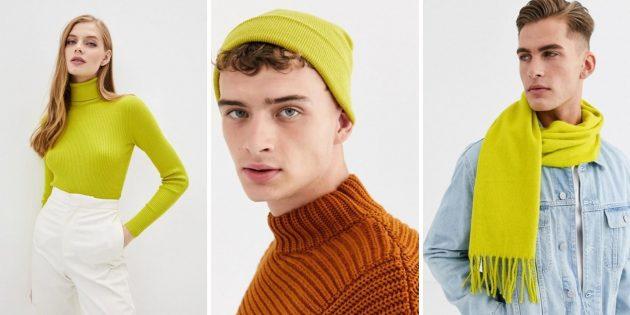 Модные цвета осени-2020: зелёный блеск