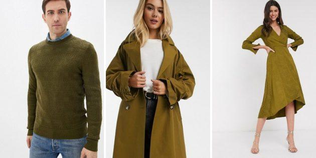 Модные цвета осени-2020: военный оливковый
