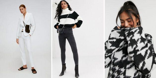 Женская мода — 2020: чёрно-белые образы