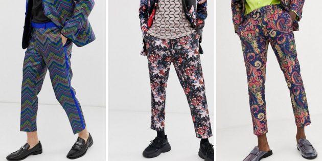 Мужская мода осени-2020: пёстрые брюки