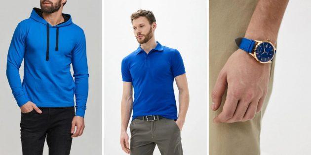 Мужская мода — 2020: яркие синие вещи