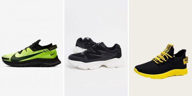Двухцветные контрастные кроссовки