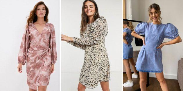 Модные платья осени-зимы 2020–2021: платья с рукавами-баллонами
