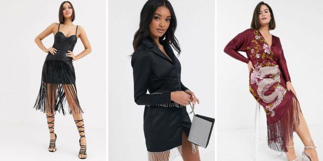 Модные платья осени-2020: платья с бахромой