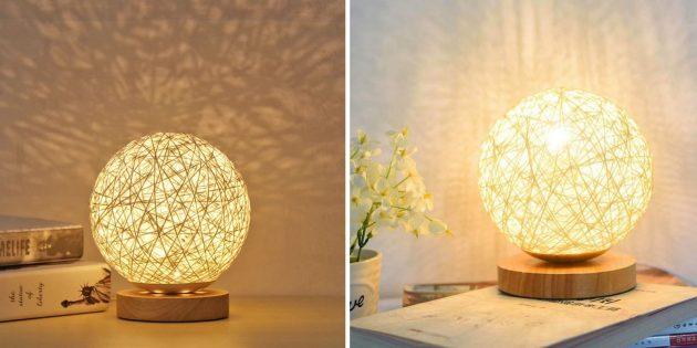 как создать осенний уют: настольная лампа