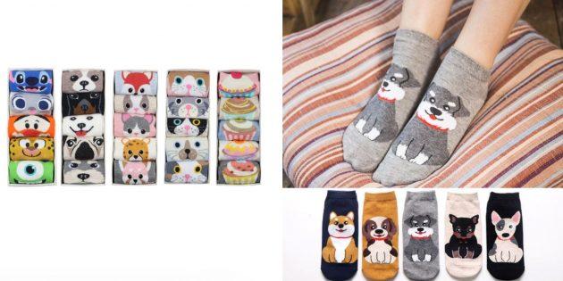 Носки с животными