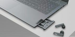 Lenovo выпустила ноутбук ThinkBook со встроенными TWS-наушниками