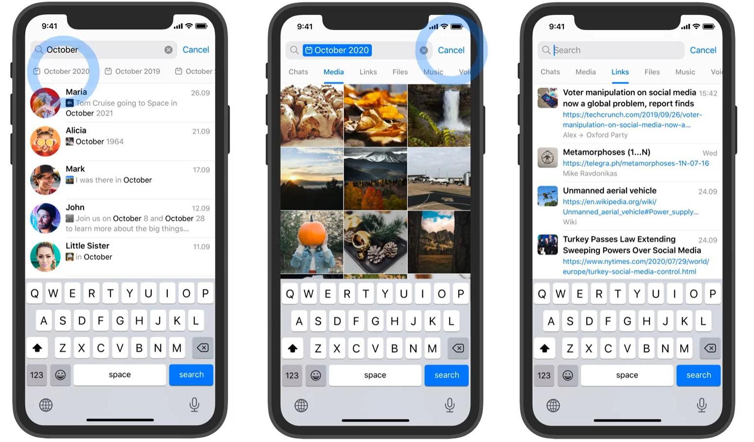 Telegram добавляет фильтры для поиска, комментарии в каналах и анонимных админов