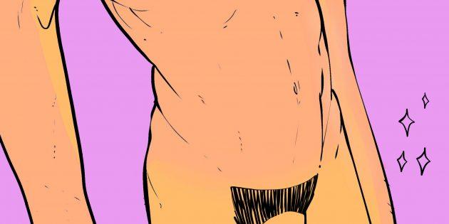 Мужские интимные стрижки: атлет