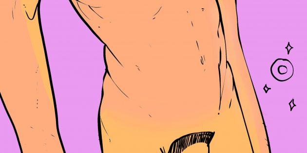 Мужские интимные стрижки: «кольцо»