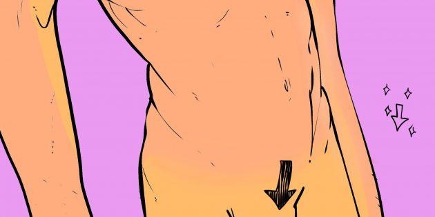 Мужские интимные стрижки: «стрела»