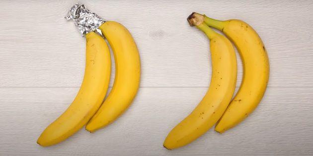 Фольга поможет продлить жизнь бананов
