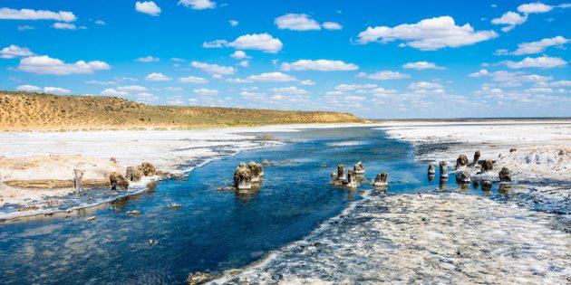Необычные места России: озеро Баскунчак, Астраханская область
