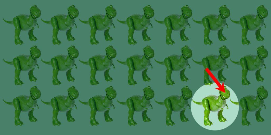 Какой динозавр отличается от остальных, ответ