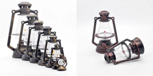 Ёлочные игрушки в стиле ретро: фонарики
