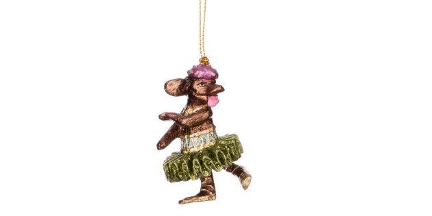 Новогодние украшения в ретростиле: собачка-балерина