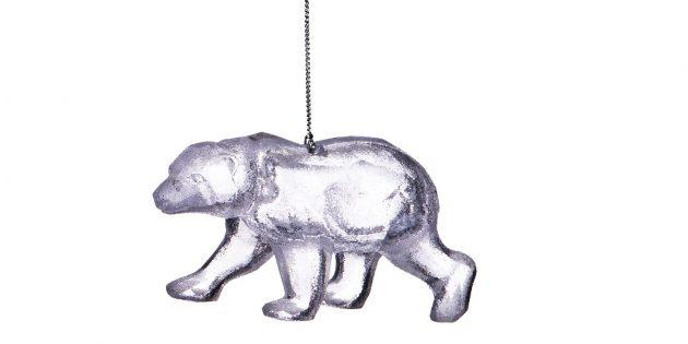 Новогодние украшения в ретростиле для тех, кто ностальгирует: полярный медведь