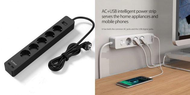 Товары ORICO: удлинитель с USB-портами