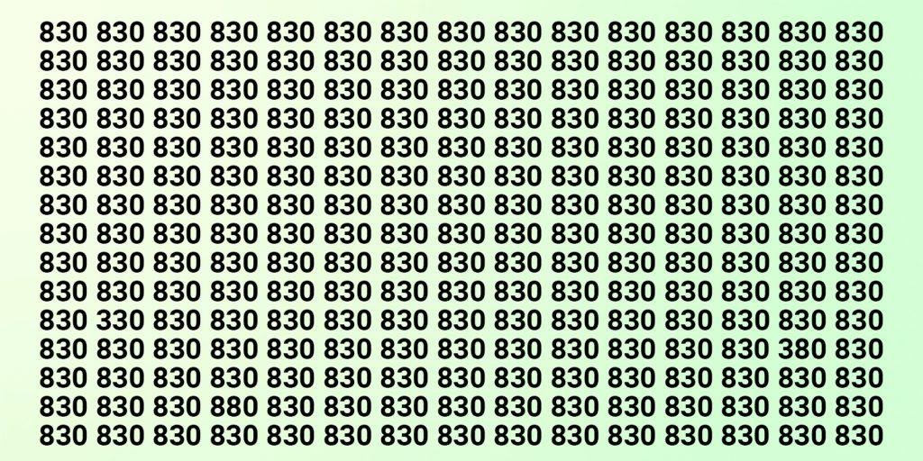 Тест на зоркость с числами