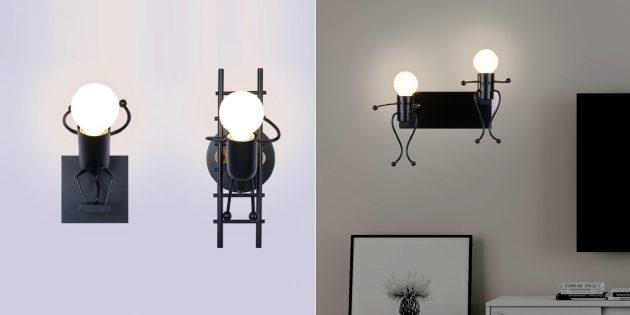 забавные товары для дома: светильники в виде человечков