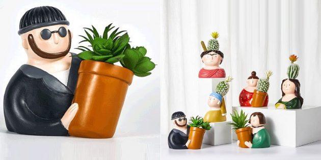 забавные товары для дома: цветочные горшки для кактусов