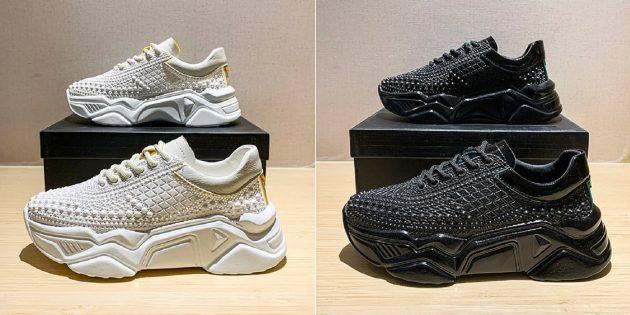 Дорогие товары с AliExpress: сетчатые кроссовки