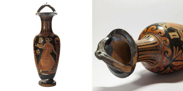 Очень дорогие вещи: краснофигурная амфора из Древней Греции