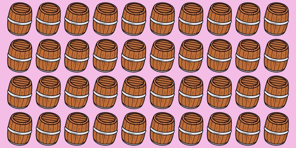 Тест на зоркость: какая бочка отличается от всех остальных?