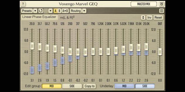 Эквалайзеры для Windows 10: Voxengo Marvel GEQ