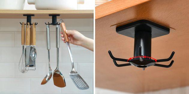 Крючки для кухонных принадлежностей