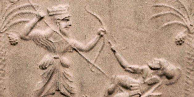 Перс убивает греческого воина