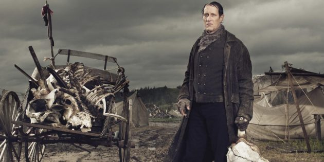 Кадр из сериала-вестерна «Ад на колёсах»