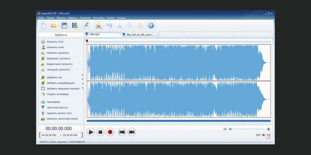 Музыкальные редакторы: «АудиоМАСТЕР»