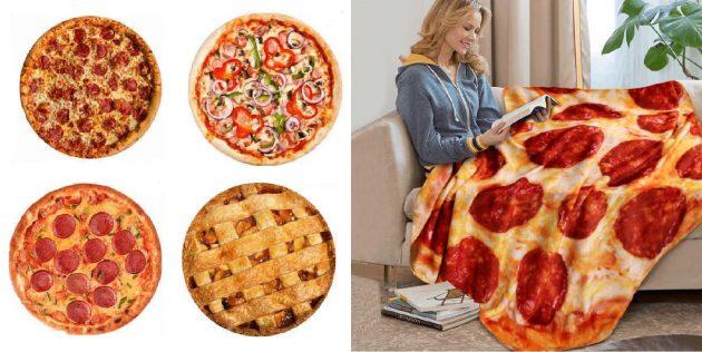 Круглый плед-пицца