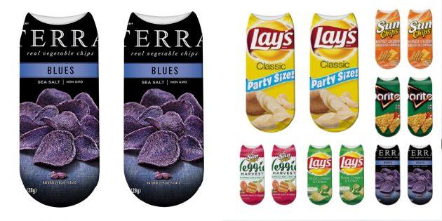 Носки с чипсами