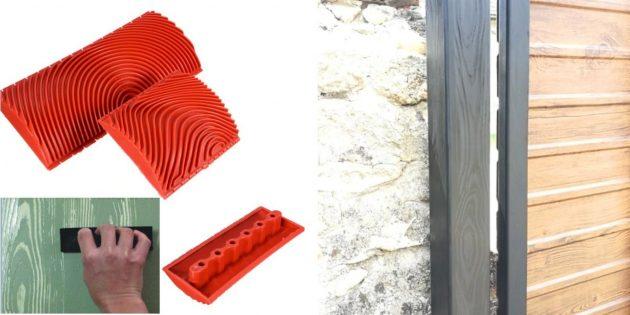 малярный инструмент — шпатель для имитации дерева