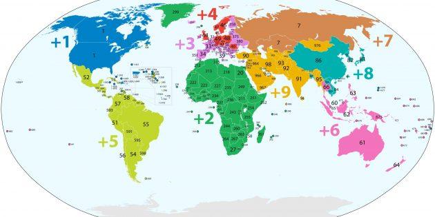 Как определить оператора по номеру телефона: карта распределения кодов зон между странами
