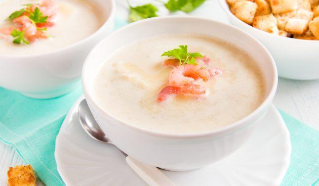 Суп с кокосовым молоком и креветками