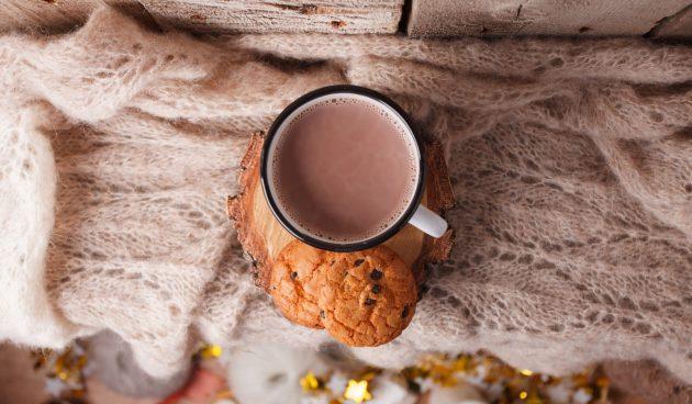 Какао с шоколадной пастой
